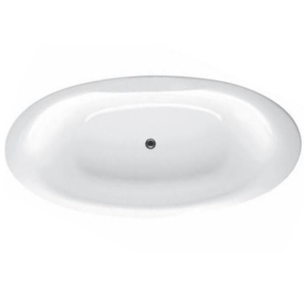 Presquile 185x90 БелаяВанны<br>Ванна овальная Jacob Delafon Presquile E6032 с отверстием для слива в центре.  Цвет белый. В комплекте поставки: ванна, регулируемые ножки.<br>