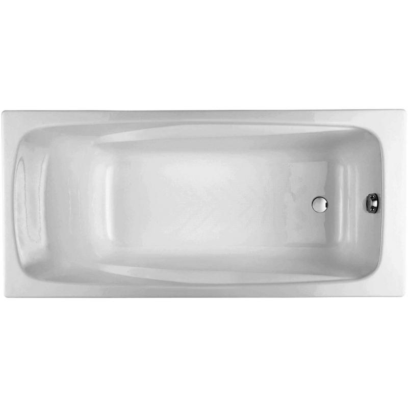Repos 170x80 с антискользящим покрытиемВанны<br>Чугунная ванна Jacob Delafon Repos 170x80 E2918-00.<br>Изящный дизайн ванны совмещен с функциональностью и удобством. Универсальный стиль этой модели дополнит интерьер большинства современных ванных комнат.<br>Изготовлена из чугуна - прочного и долговечного материала. Качественная эмаль устойчива к бытовым повреждениям, долго сохраняет первоначальный цвет и блеск.<br>Смягченные углы с внутренней стороны чаши ванны облегчают уход.<br>Плавный наклон спинки, повторяющий анатомические особенности тела человека. Встроенный подголовник и два подлокотника обеспечивают дополнительный комфорт.<br>Увеличенная глубина чаши позволяет полностью погрузиться в воду.<br>Антискользящие насечки на дне ванны для дополнительной безопасности.<br>Цвет: белый.<br>Монтаж: на ножках.<br>В комплекте поставки: чаша ванны.<br>