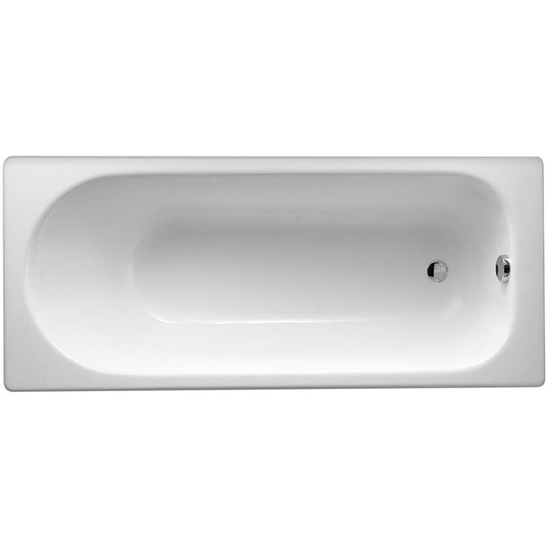 Soissons 170x70 без гидромассажаВанны<br>Эмалированная чугунная ванна Jacob Delafon Soissons 170x70 E2921-00 прямоугольная, встраиваемая, с удобным наклоном для спины.<br>Материал: чугун.<br>Блестящая отделка: эмалированная внутренняя сторона.<br>Внешняя сторона покрашена в белый цвет.<br>Долговечность и прочность.<br>Простота в уходе.<br>Диаметр сливного отверстия: 5,2 см.<br>Объем: 158 л.<br>Вес: 99,2 кг.<br><br>В комплекте поставки:<br>чаша ванны.<br><br>