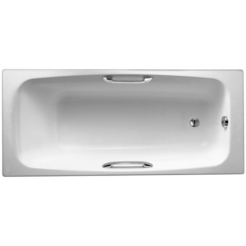 Diapason 170x75 с антискользящим покрытиемВанны<br>Чугунная ванна Jacob Delafon Diapason 170x75 E2926-00 с отверстиями для ручек.<br>Изящный дизайн ванны совмещен с функциональностью и удобством. Универсальный стиль этой модели дополнит интерьер большинства современных ванных комнат.<br>Изготовлена из чугуна - прочного и долговечного материала. Качественная эмаль устойчива к бытовым повреждениям, долго сохраняет первоначальный цвет и блеск.<br>Смягченные углы с внутренней стороны чаши ванны облегчают уход.<br>Увеличенная глубина чаши позволяет полностью погрузиться в воду.<br>Антискользящие насечки на дне ванны для дополнительной безопасности.<br>Цвет: белый.<br>Монтаж: на ножках.<br>В комплекте поставки: чаша ванны.<br>