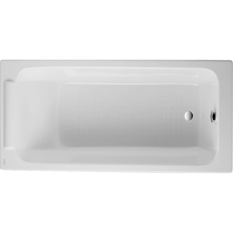 Parallel 170x70 E2947-00 с антискользящим покрытиемВанны<br><br>Эмалированная чугунная ванна Jacob Delafon Parallel 170x70 E2947-00 прямоугольная, встраиваемая, с интегрированным подголовником, с удобным поддерживающим наклоном для спины.<br><br><br>Современные геометрические формы.<br>Материал: чугун.<br>Блестящая отделка: эмалированная внутренняя сторона.<br>Безопасность: антискользящее покрытие дна.<br>Внешняя сторона покрашена в белый цвет.<br>Долговечность и прочность.<br>Простота в уходе.<br>Диаметр сливного отверстия: 5,2 см.<br>Объем: 199 л.<br>Вес: 90 кг.<br><br><br>В комплекте поставки:<br>чаша ванны.<br><br>