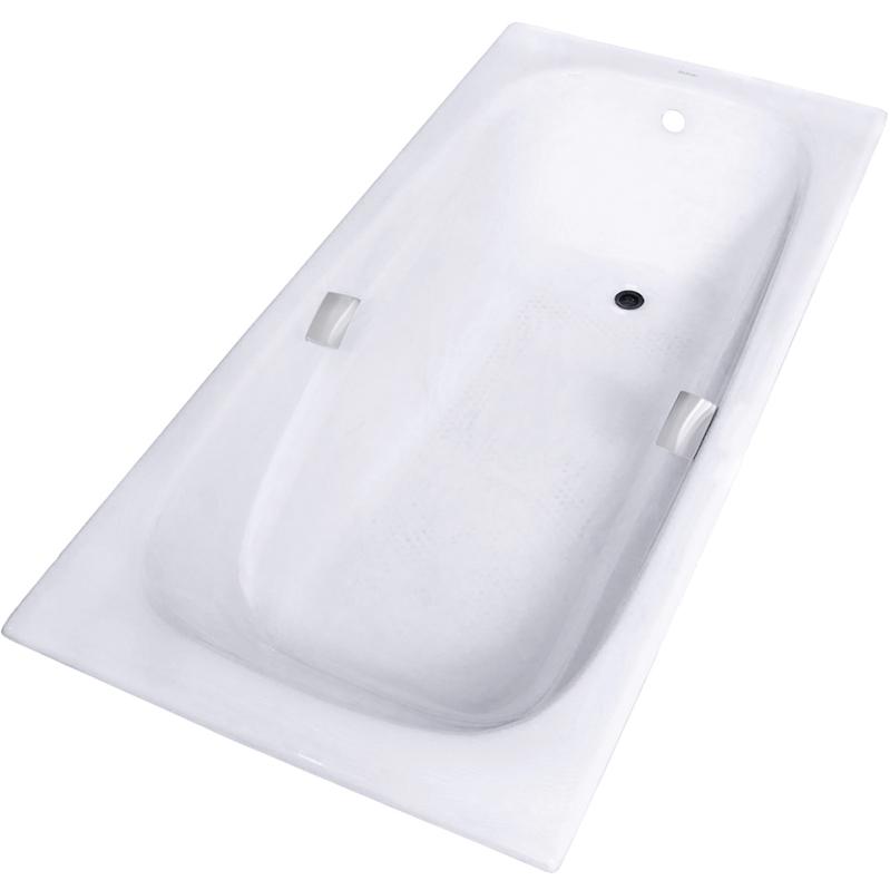Zya 24C-2 180x85 с противоскользящим покрытиемВанны<br>Чугунная ванна Aqualux Zya 24C-2 180x85.<br>Классический вид, прямоугольная форма и элегантный дизайн подчеркнут изысканность интерьера ванной комнаты.<br>Размер: 180x85x42 см.<br>Цвет: белый.<br>Материал: чугун.<br>Внутреннее покрытие ванны: щелочеустойчивое эмалевое покрытие.<br>На дне ванны предусмотрены насечки anti-slip, предотвращающие скольжение.<br>Слив перелив:<br>с сифоном,<br>материал: пластик,<br>цвет: хром.<br>В комплекте поставки: чаша ванны, слив-перелив.<br>