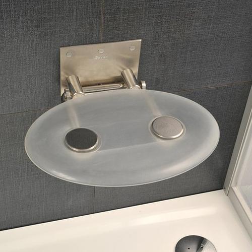 CLEAR B8F0000000 прозрачноеАксессуары для ванной<br>Сиденье Ravak CLEAR B8F0000000 из нержавеющей стали для душевых и ванных комнат,  прозрачное.<br>