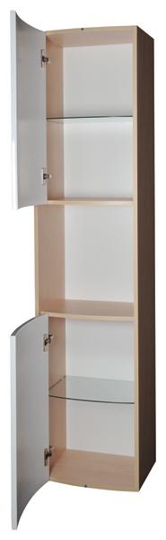 Rosa SB 41 белая/белаяМебель для ванной<br>Пенал SB Uni Ravak Praktik – отличное решение для небольших ванных комнат. Он оборудован 2 дверцами с механизмом плавного закрытия, а также одной открытой полочкой для хранения. Цвет исполнения - белый.<br>