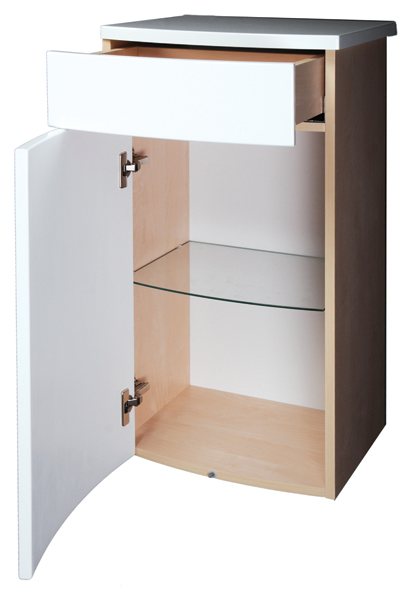 цена Тумба Ravak Uni PS 42 с ящиком белая / белая L онлайн в 2017 году