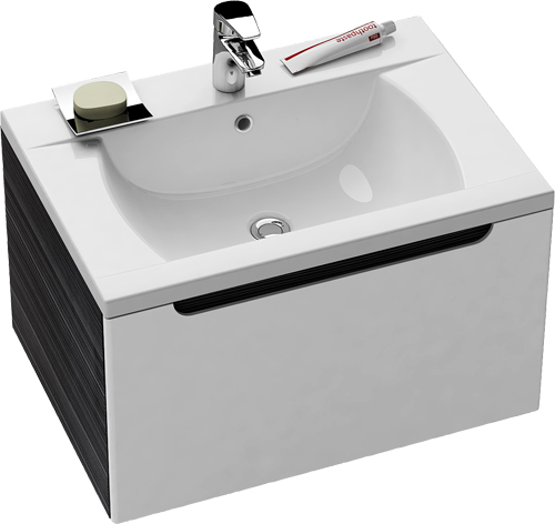 SD-600 Classic оникс/белаяМебель для ванной<br>Тумба под раковину SD-600 Classic в современном стиле. Просторный выдвижной ящик для хранения. Корпус выполнен в цвете оникс, фасад – белый.<br>