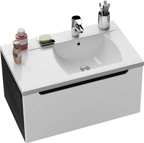 SD-800 Classic белая/белая LМебель для ванной<br>Тумба под раковину SD-800 Classic подвесная в левом исполнении. Модель оборудована вместительным выдвижным ящиком с механизмом плавного закрытия. Цвет изделия в данной комплектации - белый.<br>