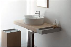 Line 400 Каштан ВенгеМебель для ванной<br>Полка подвесная Scarabeo Line. Все дополнительное оборудование приобретается отдельно.<br>
