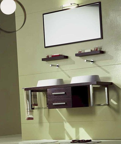 Brio System 230 Каштан ВенгеМебель для ванной<br>Полка подвесная Scarabeo Brio System. Все дополнительное оборудование приобретается отдельно.<br>