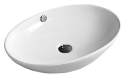 MR-8195 белаяРаковины<br>Раковина накладная Mira MR-8195, с переливом, изготовлена из керамики высокого качества. Керамика проходит ряд термических обработок, что позволяет раковине долгое время оставаться крепкой и не трескаться, а также сохранять белизну и блеск покрытия.<br>