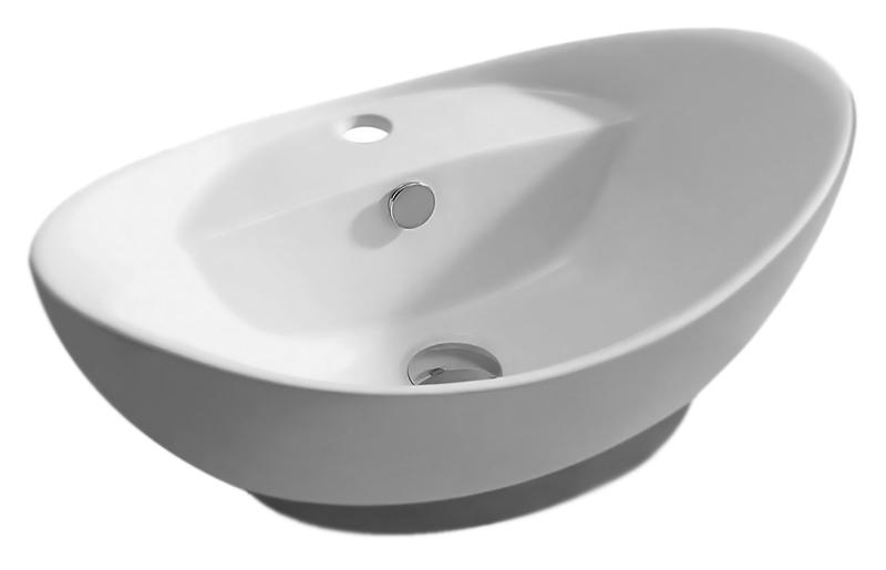 MR-8001 белаяРаковины<br>Раковина накладная Mira MR-8001, с одним отверстием под смеситель, с переливом, изготовлена из керамики высокого качества. Керамика проходит ряд термических обработок, что позволяет раковине долгое время оставаться крепкой и не трескаться, а также сохранять белизну и блеск покрытия.<br>