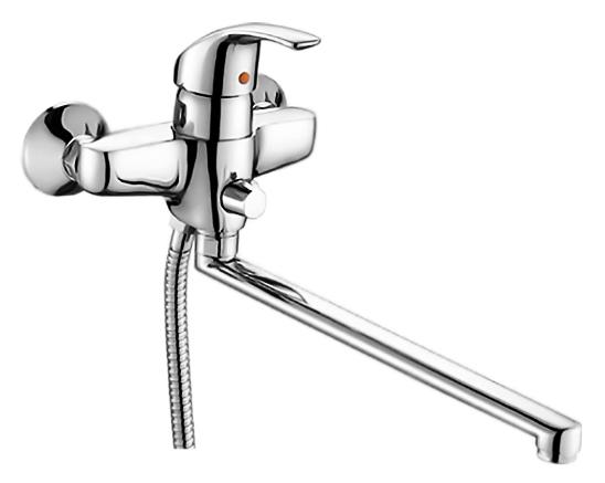 P2207 хромСмесители<br>Смеситель для ванны Potato P2207 с душевым гарнитуром. Длинный поворотный излив 350 мм. Керамический картридж 40 мм. Длина шланга 1500 мм. Переключатель ванна/душ. Цена указана за смеситель, шланг, душевую лейку, настенный держатель для лейки и комплект крепления. Все остальное приобретается дополнительно.<br>