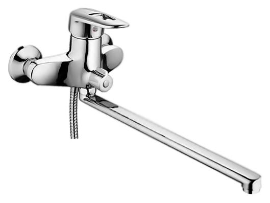 P2226 хромСмесители<br>Смеситель для ванны Potato P2226 с душевым гарнитуром. Длинный поворотный излив 400 мм. Керамический картридж 40 мм. Длина шланга 1500 мм. Переключатель ванна/душ. Цена указана за смеситель, шланг, душевую лейку, настенный держатель для лейки и комплект крепления. Все остальное приобретается дополнительно.<br>