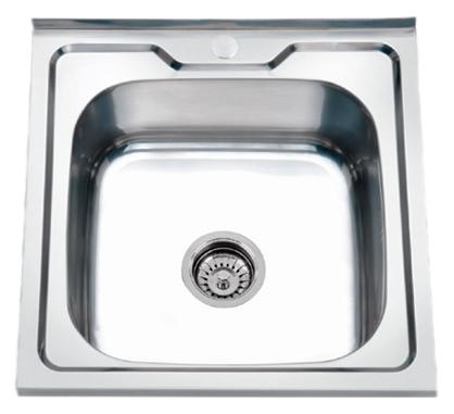 50x50 P85050 хром глянцевыйКухонные мойки<br>Кухонная мойка накладная Potato 50x50 P85050 с одной чашей, изготовлена из нержавеющей стали, толщиной 0,8 мм, с глянцевой поверхностью.<br>