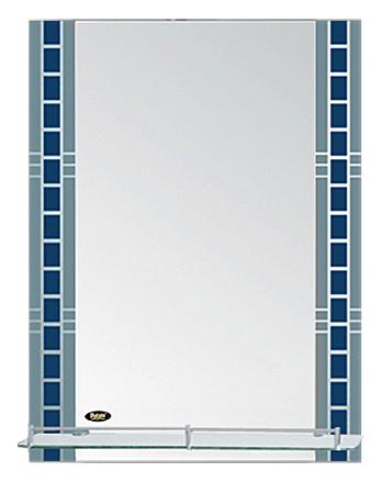 50x70 P706 хром/синийМебель для ванной<br>Универсальное зеркало Potato 50x70 P706 с полочкой, подойдет для любого интерьера. Цена указана за зеркало с полочкой. Все остальное приобретается дополнительно.<br>