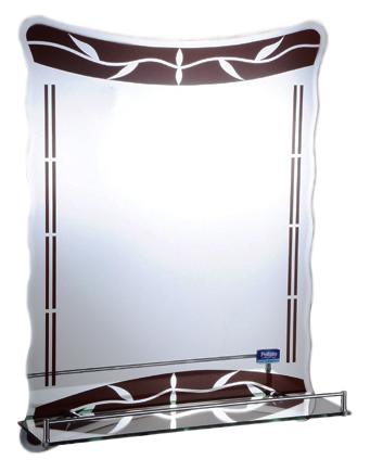 45x60 P713 хром/коричневоеМебель для ванной<br>Универсальное зеркало Potato 45x60 P713 с полочкой, подойдет для любого интерьера. Цена указана за зеркало с полочкой. Все остальное приобретается дополнительно.<br>