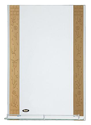 50x70 P715 хром/бежевоеМебель для ванной<br>Универсальное зеркало Potato 50x70 P715 с интересным принтом и с полочкой, подойдет для любого интерьера.<br>