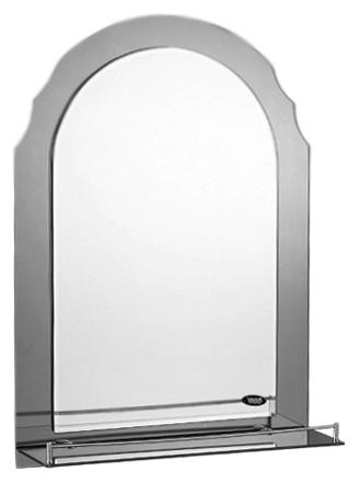 50x70 P753-4 хром/сероеМебель для ванной<br>Универсальное зеркало Potato 50x70 P753-4 с полочкой, подойдет для любого интерьера. Цена указана за зеркало с полочкой. Все остальное приобретается дополнительно.<br>