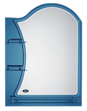 50x70 P756-2 хром/синееМебель для ванной<br>Универсальное зеркало Potato 50x70 P756-2, с боковыми и нижней полочками, подойдет для любого интерьера. Цена указана за зеркало с полочками. Все остальное приобретается дополнительно.<br>