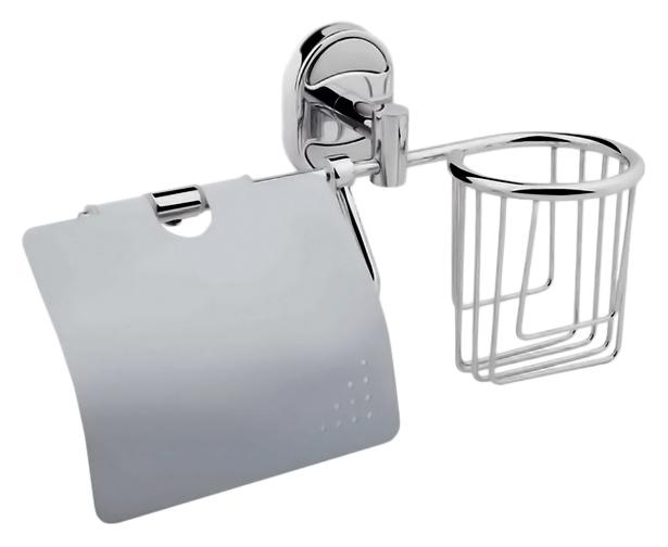 P2903-1 хромАксессуары для ванной<br>Держатель освежителя воздуха и туалетной бумаги с крышкой Potato P2903-1 из хромированного металла. Цена указана за держатель освежителя воздуха и туалетной бумаги и комплект креплений. Все остальное приобретается дополнительно.<br>