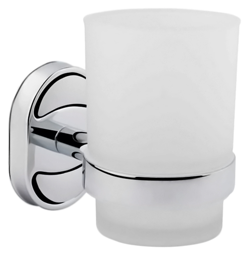 P2906 хром/белыйАксессуары для ванной<br>Стакан Potato P2906 из белого матового стекла с держателем из хромированного металла. Цена указана за стакан, держатель для стакана и комплект креплений. Все остальное приобретается дополнительно.<br>
