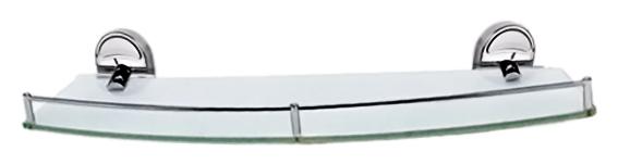 52x16 P2920-1 хром/матовое стеклоАксессуары для ванной<br>Стеклянная полка Potato 52x16 P2920-1 из матового стекла и хромированного металла. Цена указана за стеклянную полку, держатели, ограничитель и комплект креплений. Все остальное приобретается дополнительно.<br>