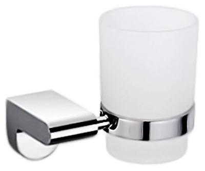 P2306 хром/белыйАксессуары для ванной<br>Стакан Potato P2306 из белого матового стекла с держателем из хромированного металла.<br>