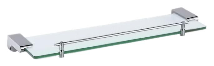 52x12 P2307 хром/матовое стеклоАксессуары для ванной<br>Стеклянная полка Potato P2307 из матового стекла и хромированного металла. Цена указана за стеклянную полку, держатели, ограничитель и комплект креплений. Все остальное приобретается дополнительно.<br>