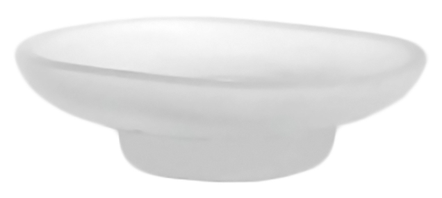 P203 белаяАксессуары для ванной<br>Настольная мыльница Potato P203 из матового стекла.<br>