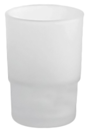P204 белыйАксессуары для ванной<br>Стакан настольный Potato P204 из матового стекла. Цена указана за стакан. Все остальное приобретается дополнительно.<br>
