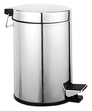 P412 хромАксессуары для ванной<br>Ведро для мусора Potato 5 P412 металлическое, с педалью и с крышкой, объемом 5 литров.<br>