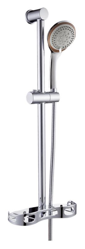 P9017  хромДушевые гарнитуры<br>Душевой гарнитур Potato P9017 с мыльницей. Ручной душ с двумя режимами струи, из прочного пластика. Штанга из нержавеющей стали. Длина шланга 1500 мм. Цена указана за штангу, ручной душ, шланг, мыльницу, держатель ручного душа и комплект крепления. Все остальное приобретается дополнительно.<br>