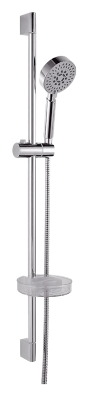 P9025 хромДушевые гарнитуры<br>Душевой гарнитур Potato P9025 с мыльницей. Ручной душ с двумя режимами струи, из прочного пластика. Мыльница из прочного пластика. Штанга из нержавеющей стали. Длина шланга 1500 мм. Цена указана за штангу, ручной душ, шланг, мыльницу, держатель ручного душа и комплект крепления. Все остальное приобретается дополнительно.<br>