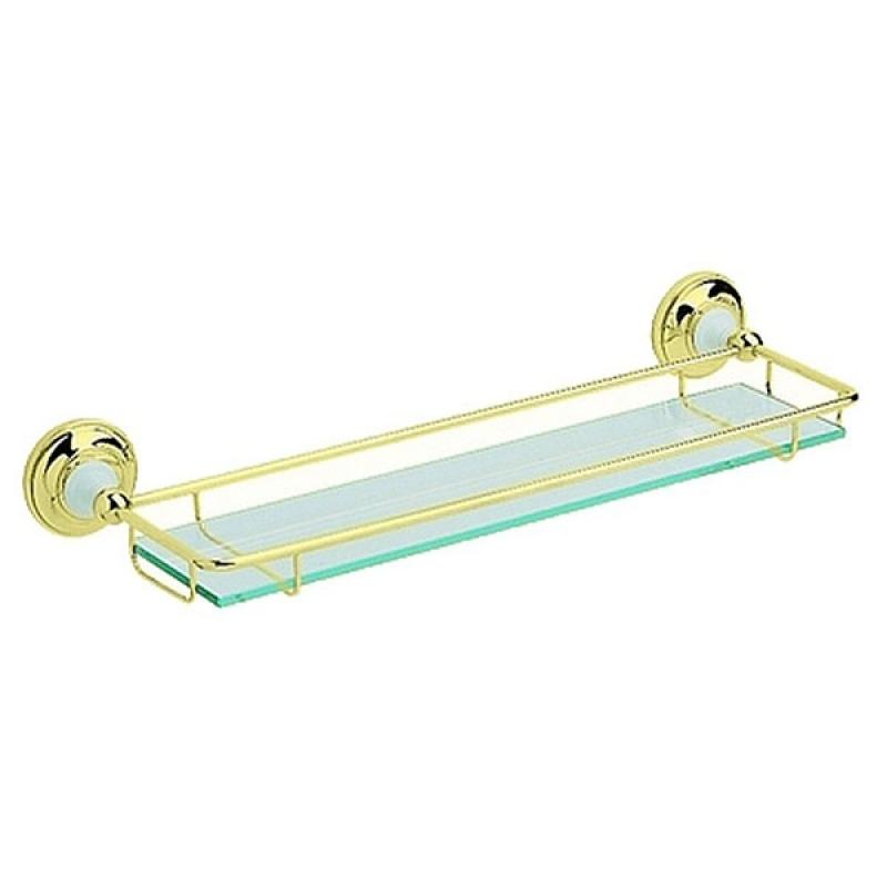 AHBR08 БронзаАксессуары для ванной<br>Прозрачная полочка Heritage из закаленного стекла. Ширина 51 см.<br>