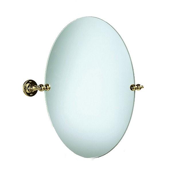 AHA17 ЗолотоАксессуары для ванной<br>Зеркало овальное 48x50h Heritage для ванной комнаты. Овальное зеркало на золотых кронштейнах. В комплекте с кронштейнами поставляются крепления и болты.<br>