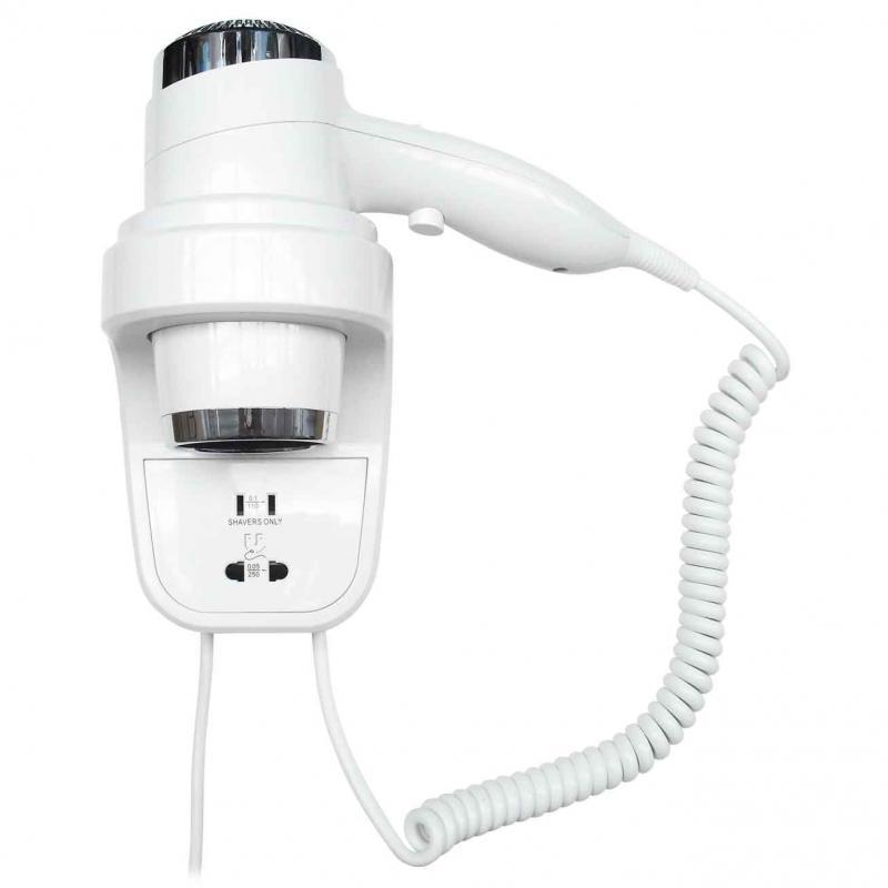 Фен настенный Nofer 02012.W Белый фен настенный nofer 02055 w белый