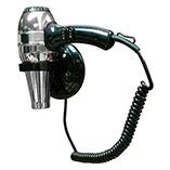 02057 Черный металликАксессуары для общественных санузлов<br>Фен настенный Nofer 02057 с антивандальной защитой, черный металлик<br>