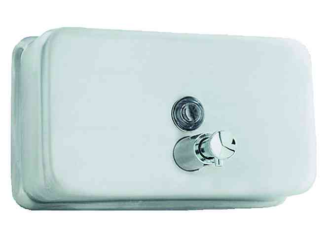 03002.S БелыйАксессуары для общественных санузлов<br>Диспенсер для жидкого мыла Nofer 03002.S, белый<br>