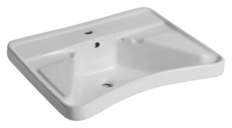 67 13133 белаяРаковины<br>Раковина Nofer 67 13133 для людей с ограниченными возможностями, с подлокотниками, с одним отверстием под смеситель, с переливом. Выемка спереди раковины облегчает доступ с смесителю. Раковина выполнена из прочной керамики и легко очищается. Цена указана за чашу раковины и кронштейны для крепления к стене. Все остальное приобретается дополнительно.<br>
