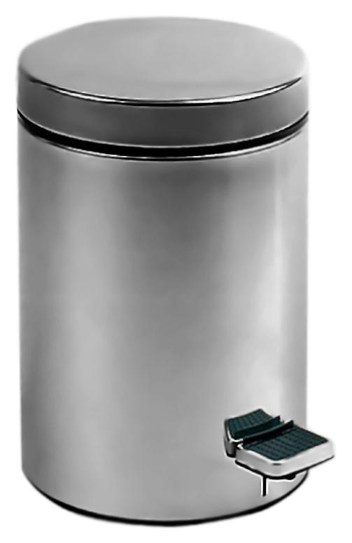 5 09101.B хром, глянцевоеАксессуары для общественных санузлов<br>Ведро для мусора Nofer 5 09101.B, объемом 5 литров. Герметичная крышка удобно открывается нажатием педали. Ведро выполнено из нержавеющей стали AISI 304, толщиной 0,35 мм, долговечно и устойчиво к коррозии, легко очищается. Гладкий, без острых углов, безопасный корпус. Подходит для учреждений и офисных зданий. Высота 270 мм, диаметр 205 мм. Цена указана за ведро для мусора. Все остальное приобретается дополнительно.<br>