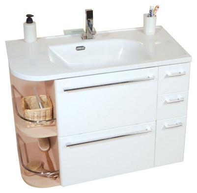 SDZU Praktik S береза/белая S LМебель для ванной<br>Раковина и ножки в комплект не входят.<br>