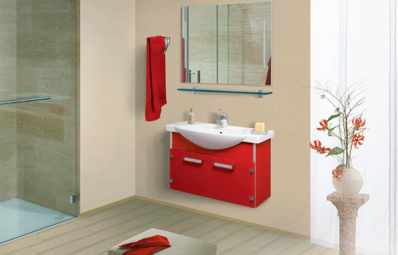 VN114 ЧерныйМебель для ванной<br>В стоимость входит тумба с раковиной Verona ПТ 85. Тумба подвесная с распашными дверцами снабженными амортизаторами и стеклянными полками внутри, раковина Vidima из санфаянса. Зеркало приобретается отдельно.<br>