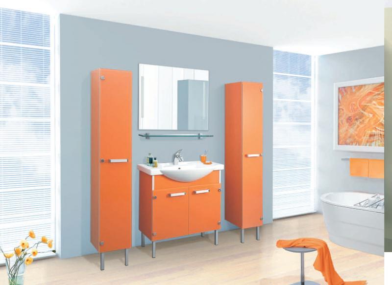 VN214 напольная ЧерныйМебель для ванной<br>В стоимость входит тумба с раковиной Verona НТ 85н. Тумба напольная с распашными дверцами снабженными амортизаторами и стеклянными полками внутри, раковина Vidima из санфаянса. Зеркало приобретается отдельно.<br>