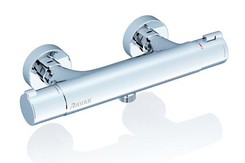 TE 032.00/150 хромСмесители<br>Смеситель Ravak TE 032.00/150, 150 мм.Термостат экономит воду, автоматически и быстро устанавливая необходимую температуру.<br>