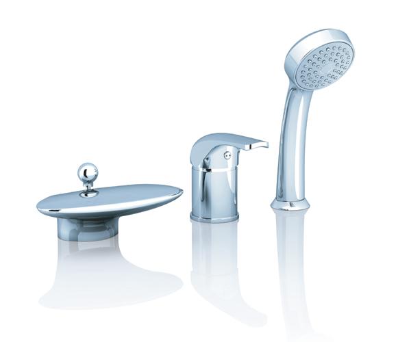 RS 025.00 хромСмесители<br>Врезной смеситель для ванны.<br>