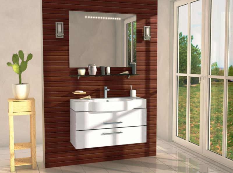 Area AR102 подвесная БелаяМебель для ванной<br>В стоимость входит тумба с раковиной Verona Area ПТ 810. Тумба подвесная с двумя выдвижными ящиками с механизмом плавного закрытия, раковина из санфаянса. Зеркало приобретается отдельно.<br>