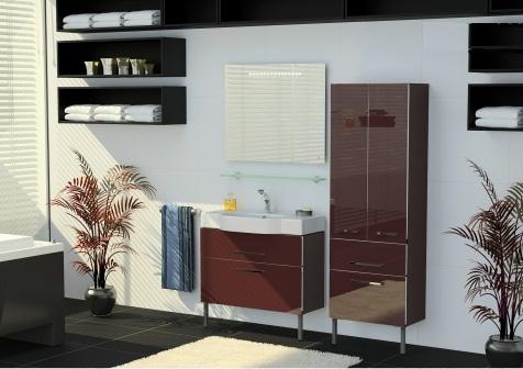 Area AR202 напольная ЧерныйМебель для ванной<br>В стоимость входит тумба с раковиной Verona Area НТ 810. Тумба на ножках с двумя выдвижными ящиками с механизмом плавного закрытия, раковина из санфаянса. Зеркало приобретается отдельно.<br>