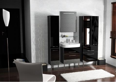 Area AR201 ЧерныйМебель для ванной<br>В стоимость входит тумба с раковиной Verona Area НТ 600. Тумба на ножках с двумя выдвижными ящиками с механизмом плавного закрытия, раковина из санфаянса. Зеркало приобретается отдельно.<br>