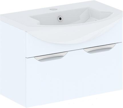 Cosmo New Estra 75 подвесна Белый глнецМебель дл ванной<br>В цену входит тумба подвесна Gemelli Сosmo New Estra укомплектованна раковиной Logic. Все комплектущие (зеркала, пеналы, шкаф) приобретатс отдельно.<br>