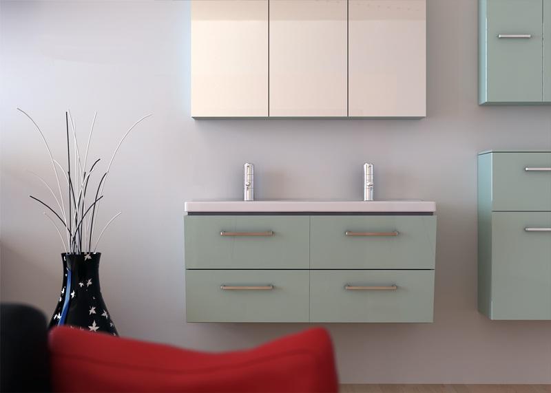 Susan SU105 КрасныйМебель для ванной<br>В стоимость входит тумба с раковиной Verona Susan ПТ 1250. Тумба подвесная с четырьмя выдвижными ящиками снабженными амортизаторами и итальянскими ручками, раковина двойная из сантехнического фарфора. Зеркало приобретается отдельно.<br>